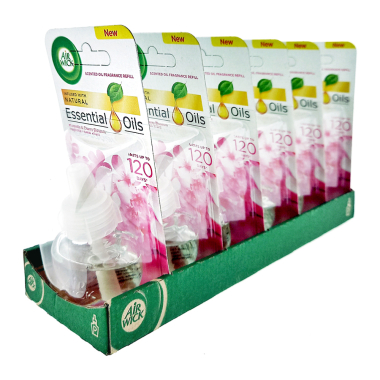 Air Wick plug-in refill Magnolia & Cherry Blossom, 19 ml x 6