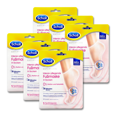 Scholl intensive care foot mask in socks, 1 pair x 6