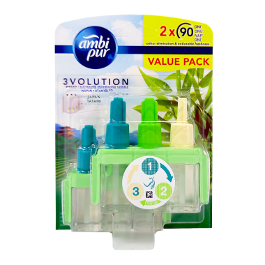 Ambi Pur 3volution refill Japan Tatami value pack, 2 x 20 ml