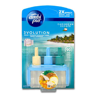 Ambi Pur 3volution plug-in refill Caribbean Escape, 20 ml