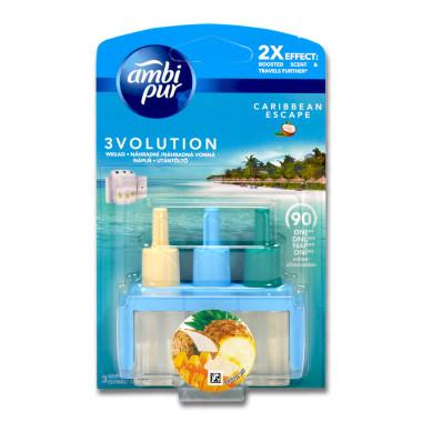 Ambi Pur 3volution plug-in refill Caribbean Escape, 20 ml...