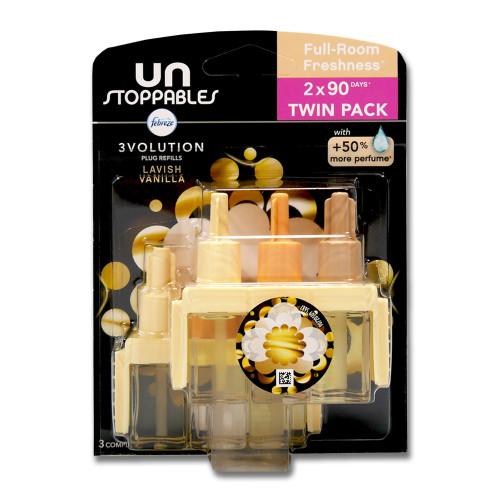 Febreze 3Volution Unstoppables plug refills Lavish Vanilla, 2 x 20 ml