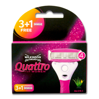 Wilkinson Quattro for Women razor blades, pack of 4 x 10