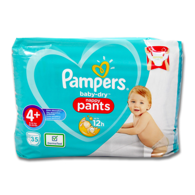 Pampers Pants Baby-Dry size 4+, pack of 35
