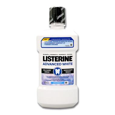 Listerine Mouthwash Advanced White, 500 ml x 6