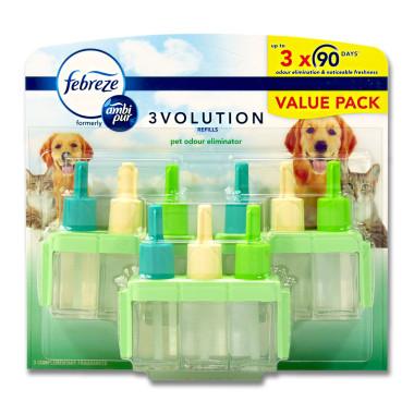 febreze 3volution refill against animal odours, 3 x 20 ml
