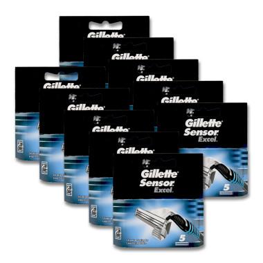 Gillette Sensor Excel razor blades, pack of 5 x 10
