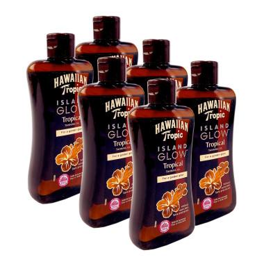 Hawaiian Tropic Island Glow Tropical Tanning Oil, 200 ml x 6