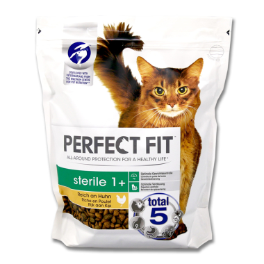 Perfect Fit Sterile 1+ Dry Cat Food Chicken, 750 g