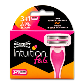 Wilkinson Intuition f.a.b. razor blades, pack of 4