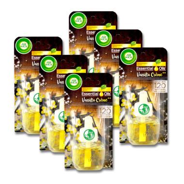 Air Wick plug-in refill Vanilla Cream, 19 ml x 6