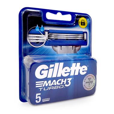 Gillette Mach3 Turbo razor blades, pack of 5