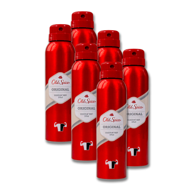 Old Spice Original Deodorant Body Spray, 150 ml x 6