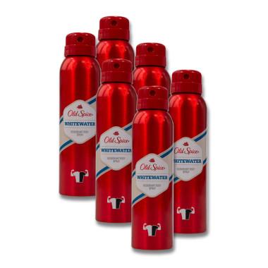 Old Spice Whitewater Deodorant Body Spray, 150 ml x 6