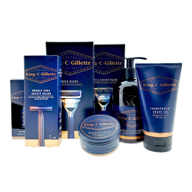 King C. Gillette Beard Care & Styling Set with 7 pieces