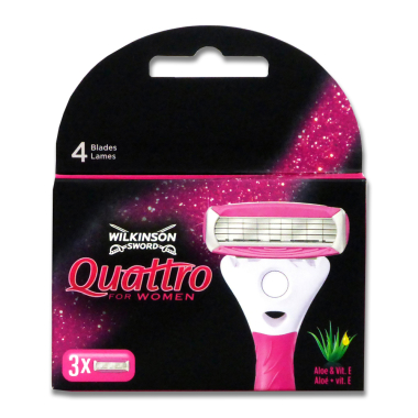 Wilkinson Quattro for Women razor blades, pack of 3