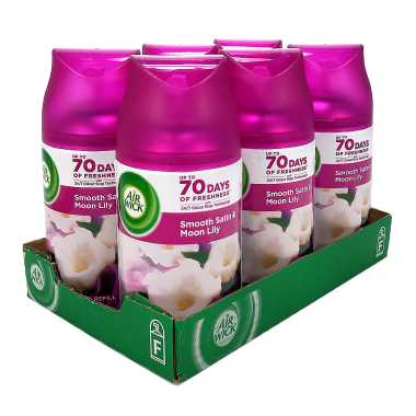 Air Wick Freshmatic Max Smooth Satin & Moon Lily, 250 ml x 6