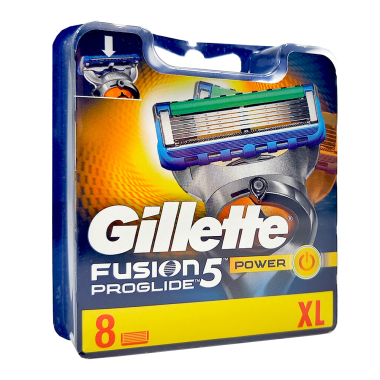 Gillette Fusion ProGlide Power razor blades, pack of 8