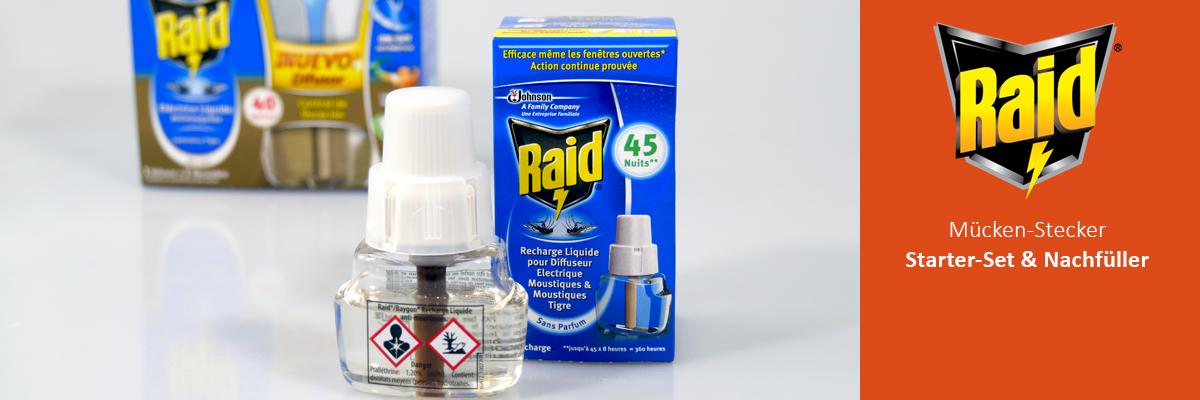 Raid mosquito plugs & refills especially